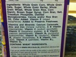cereal box ingredients